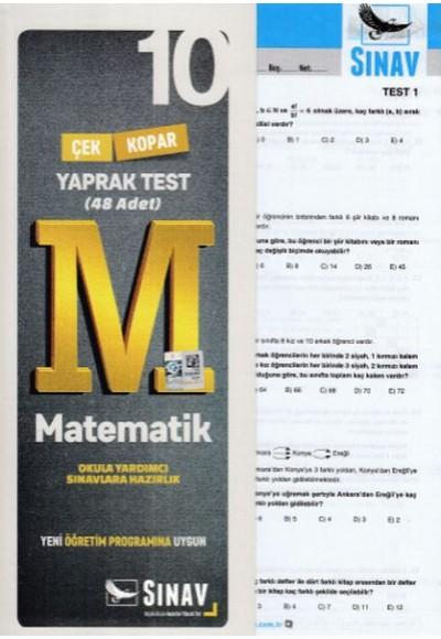 Sınav 10. Sınıf Matematik Çek Kopar Yaprak Test (Yeni)