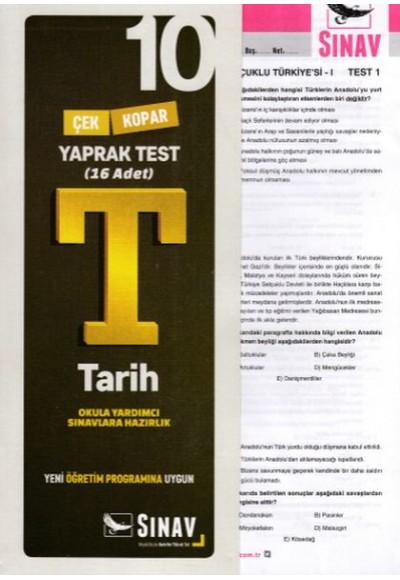 Sınav 10. Sınıf Tarih Çek Kopar Yaprak Test (Yeni)