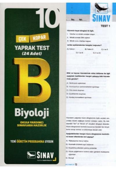 Sınav 10. Sınıf Biyoloji Çek Kopar Yaprak Test (Yeni)