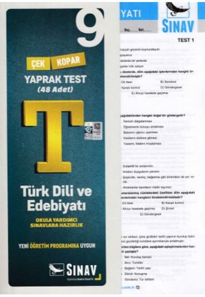 Sınav 9. Sınıf Türk Dili ve Edebiyatı Çek Kopar Yaprak Test Yeni