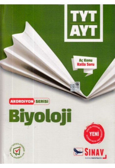 Sınav TYT AYT Biyoloji Akordiyon Serisi Yeni