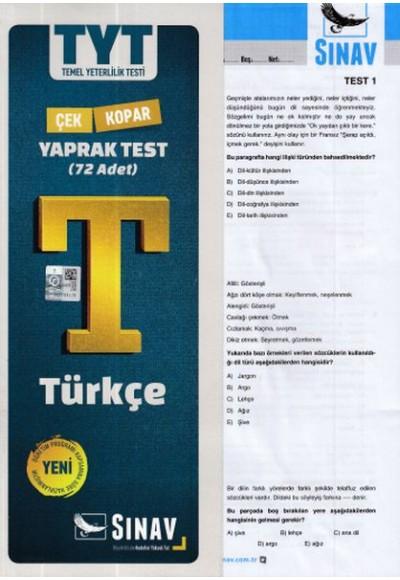 Sınav TYT Türkçe Yaprak Testi Yeni