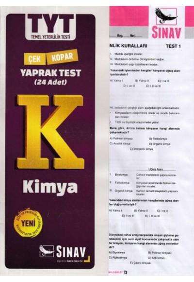 Sınav TYT Kimya Yaprak Test Yeni
