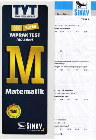 Sınav TYT Matematik Yaprak Test Yeni