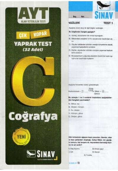 Sınav AYT Coğrafya Yaprak Test Yeni