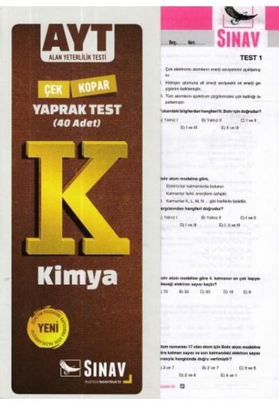 Sınav AYT Kimya Yaprak Test Yeni
