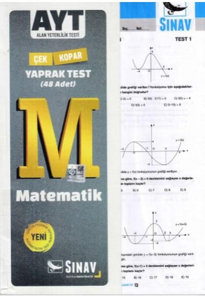 Sınav AYT Matematik Yaprak Test Yeni