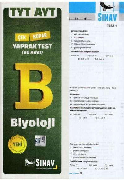 Sınav TYT-AYT Biyoloji Yaprak Test (Yeni)