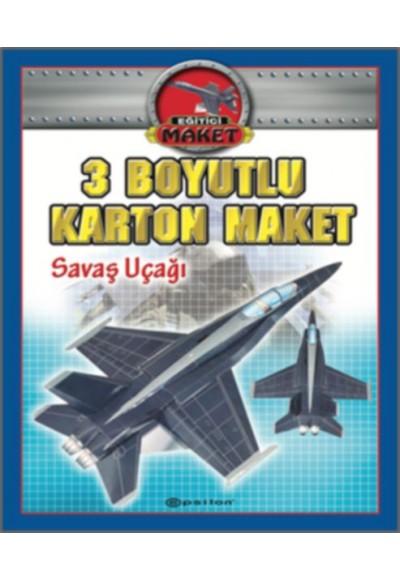3 Boyutlu Karton Maket Savaş Uçağı