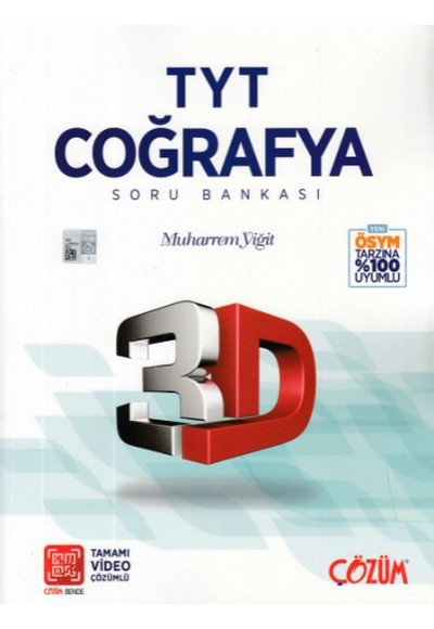 3D TYT Coğrafya Soru Bankası Yeni