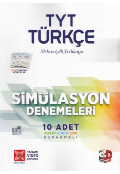 3D TYT Türkçe Tamamı Video Çözümlü Simülasyon Denemeleri Yeni
