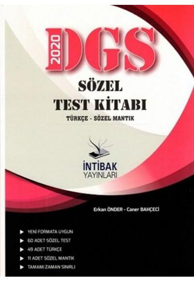 İnitbak 2020 DGS Sözel Test Kitabı Türkçe Sözel Mantık Yeni