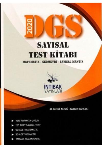 İntibak 2020 DGS Sayısal Test Kitabı Matematik Geometri Sayısal Mantık Yeni