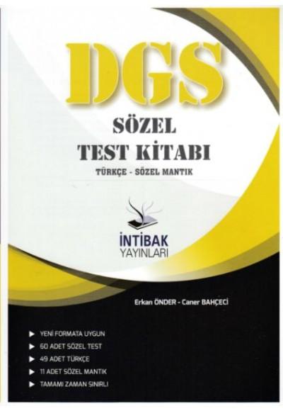 İntibak 2021 DGS Sözel Test Kitabı