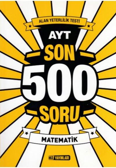 Hız AYT Son 500 Soru Matematik Yeni