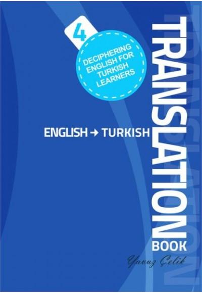 Deciphering English for Turkish Learners Translation Book English Turkish