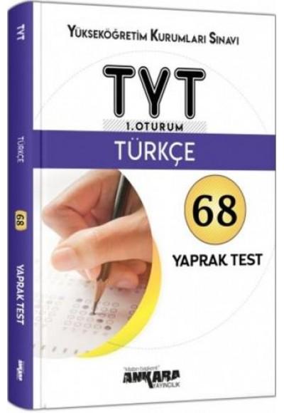 Ankara YKS TYT 1. Oturum Türkçe Yaprak Test Yeni