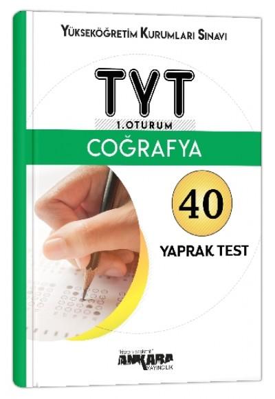 Ankara YKS TYT 1. Oturum Coğrafya Yaprak Test