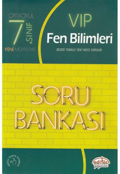 Editör 7.Sınıf VIP Fen Bilimleri Soru Bankası Yeni