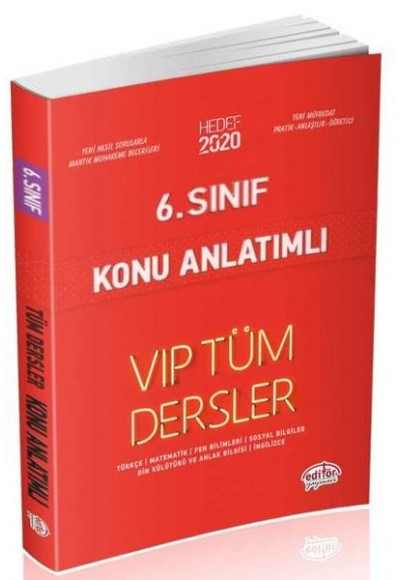 Editör 6. Sınıf VIP Tüm Dersler Konu Anlatımlı Kırmızı Kitap (Yeni)
