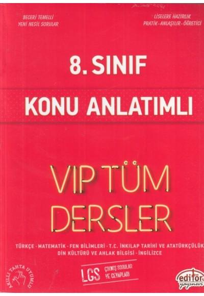 Editör 8. Sınıf VIP Tüm Dersler Konu Anlatımlı Kırmızı Kitap Yeni