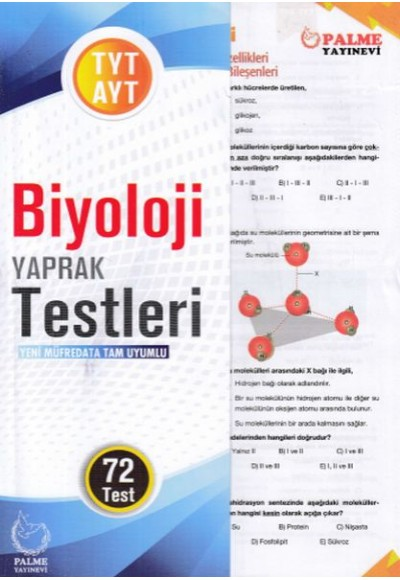 Palme TYT- AYT Biyoloji Yaprak Test (Yeni)