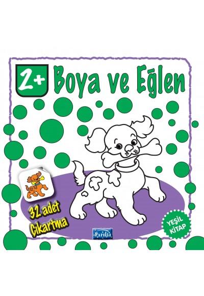 Boya ve Eğlen Yeşil Kitap