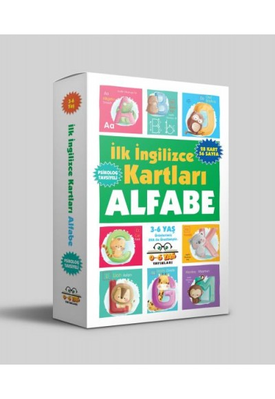 İlk İngilizce Kartları Alfabe 3 6 Yaş