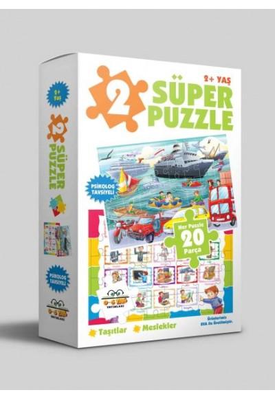 2 Süper Puzzle - Taşıtlar - Meslekler 2+ Yaş