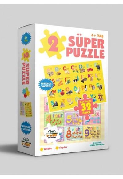 2 Süper Puzzle Alfabe Sayılar 4 Yaş