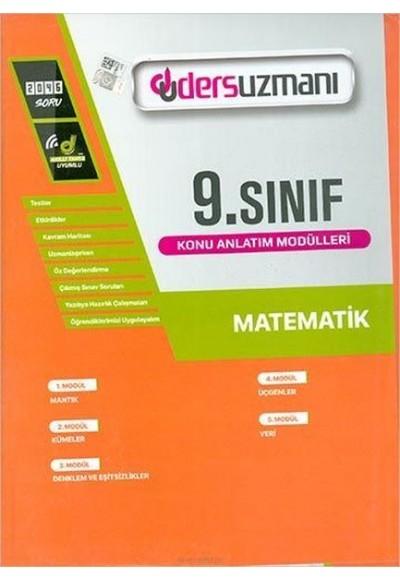 Ders Uzmanı 9. Sınıf Matematik Konu Anlatım Modülleri (Yeni)