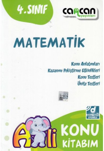Cancan 4. Sınıf Matematik Afilli Konu Kitabım (Yeni)