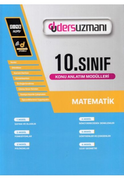 Ders Uzmanı 10. Sınıf Matematik Konu Anlatım Modülleri (Yeni)