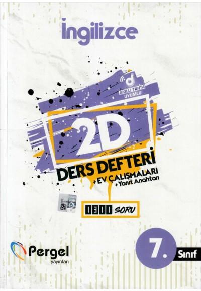 Pergel 7. Sınıf İngilizce 2D Ders Defteri + Ev Çalışmaları (Yeni)