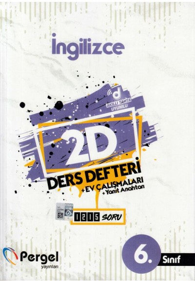 Pergel 6. Sınıf İngilizce 2D Ders Defteri + Ev Çalışmaları (Yeni)