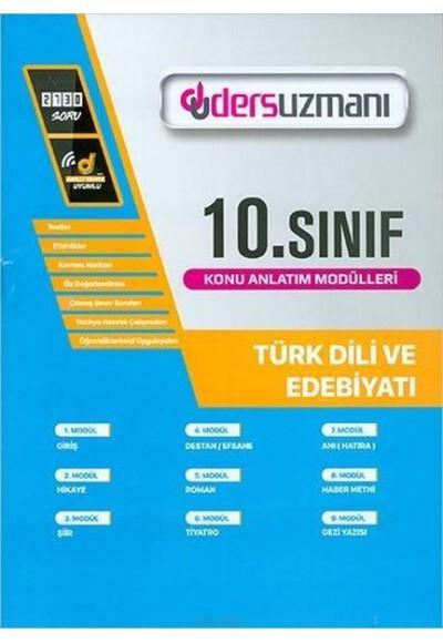 Ders Uzmanı 10. Sınıf Türk Dili ve Edebiyatı Konu Anlatım Modülleri (Yeni)