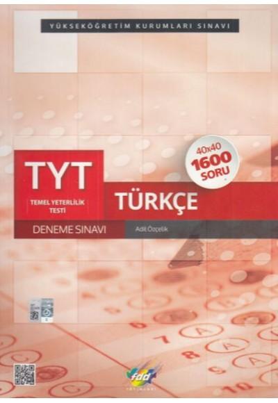 FDD TYT Türkçe 40x40 Deneme Yeni