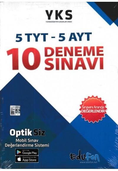 Edufon YKS 10 Deneme Sınavı (5 TYT - 5 AYT)