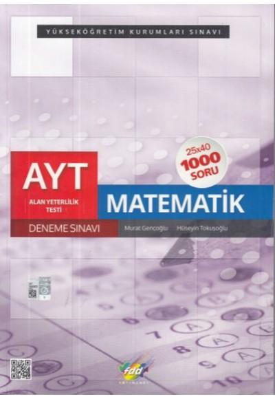 FDD AYT Matematik 25x40 Deneme Sınavı Yeni