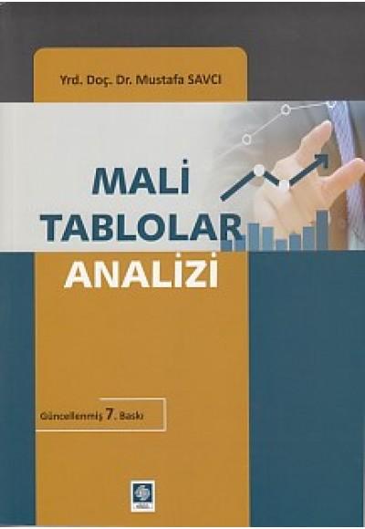 Mali Tablolar Analizi Yrd. Doç. Dr. Mustafa Savcı
