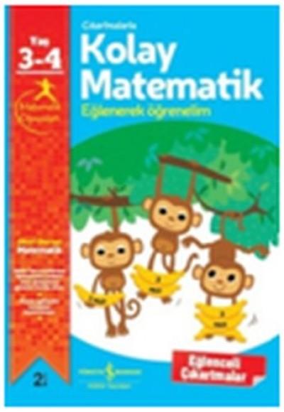 Çıkartmalarla Kolay Matematik Eğlenerek Öğrenelim 3 4 Yaş