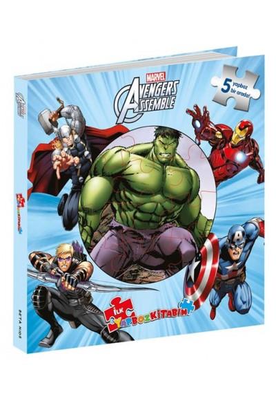 Marvel Avengers Assemble İlk Yapboz Kitabım 5 Yapboz Birarada