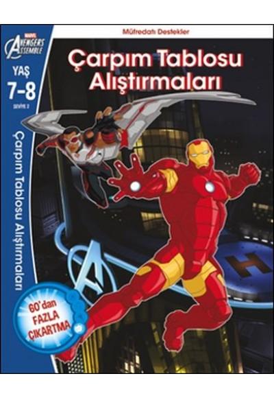 Marvel Avengers Assemble Çarpım Tablosu Alıştırmaları 7 8 Yaş