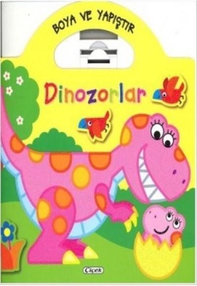 Boya ve Yapıştır - Dinozorlar (Sarı)