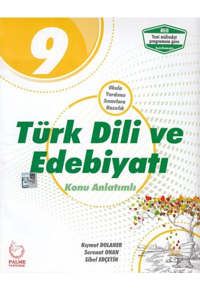 Palme 9. Sınıf Türk Dili ve Edebiyatı Konu Anlatımlı Yeni