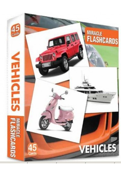 Vehicles Miracle Flashcards 45 Cards