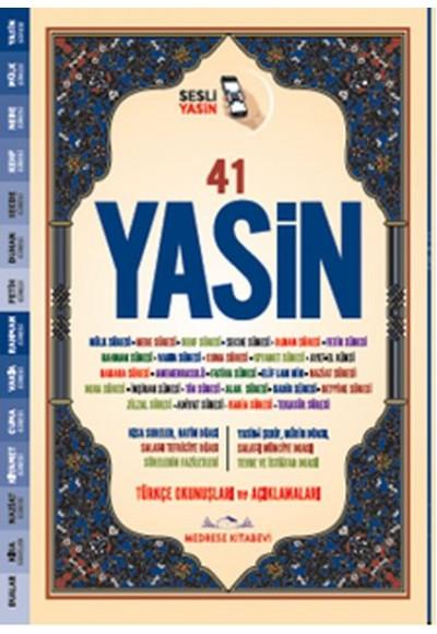 Türkçe Okunuşlu ve Mealli, Sesli 41Yasin i Şerif Cami Boy