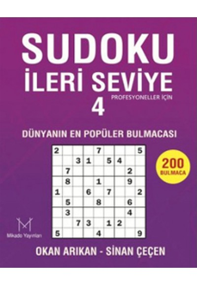 Sudoku İleri Seviye-4  Profesyoneller İçin