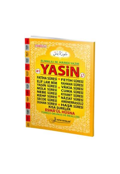 41 Yasin Türkçe Okunuş ve Mealleri Fihristli Orta Boy F016