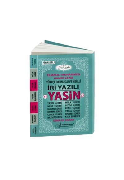 41 Yasin Türkçe Okunuşlu ve Mealli İri Yazılı Fihristli Çanta Boy F025